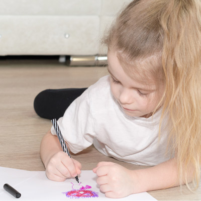 Preschool Girl Drawing